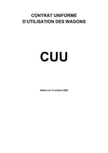 contrat uniforme d'utilisation des wagons cuu - Trenitalia