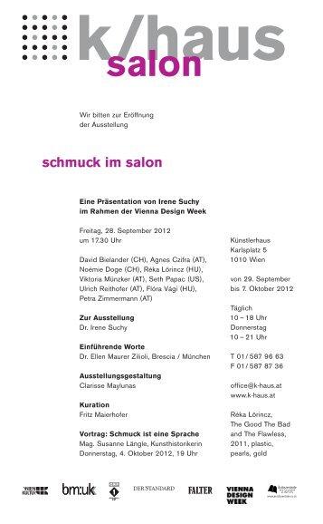 schmuck im salon - Irene Suchy