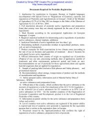 Documents Required for Pesticide Registration