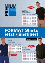 Flyer FORMAT Shirts jetzt günstiger!