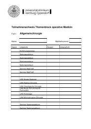 Teilnahmenachweis Themenblock operative Medizin