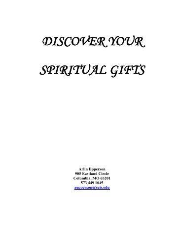 SPIRITUAL GIFTS CLASS - Healing of the Spirit Ministries