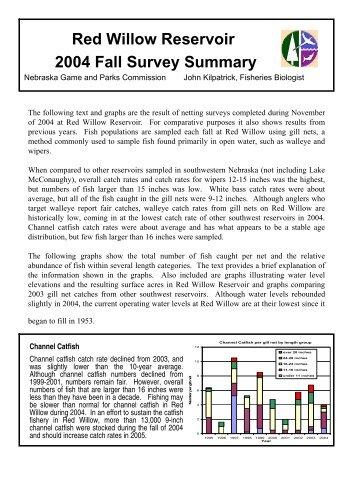 Red Willow Reservoir 2004 Fall Survey Summary - Nebraska Game ...