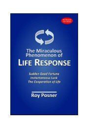 Posner, Roy. The Miraculous Phenomenon of Life Response