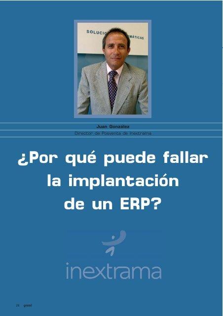 ¿Por qué puede fallar la implantación de un ERP?