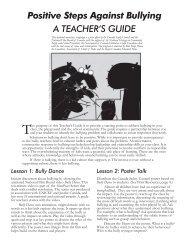 Positive Steps Against Bullying A TEACHER'S GUIDE - Bullfrog Films