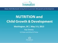 NUTRITION and - Alive & Thrive