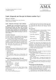 Lipide: Diagnostik und Therapie bei Diabetes mellitus Typ 2