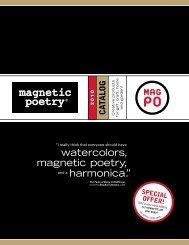 "watercolors, magnetic poetry, harmonica."" - Raincoast Books"