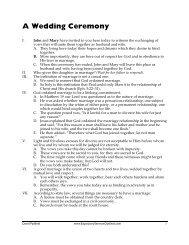 A Wedding Sermon by Jeff Asher - Free Sermon Outlines