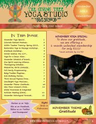 Gratitude - The Giving Tree Yoga Studio