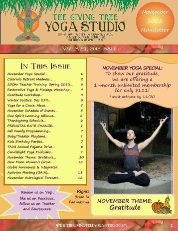 Gratitude - The Giving Tree Yoga Studio