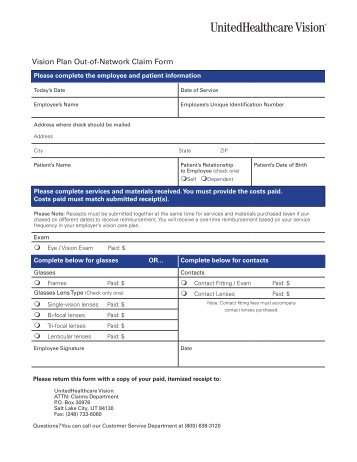 Davis Vision Claim Form - Committee of Interns and Residents