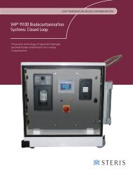 VHP® M100 Biodecontamination Systems: Closed Loop - Steris Life ...