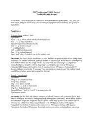 2007 Smithsonian Folklife Festival Northern Ireland Recipes Please ...