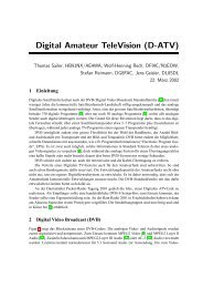 Digital Amateur TeleVision (D-ATV)