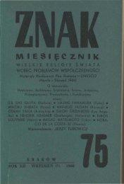 Nr 75, wrzesień 1960 - Znak