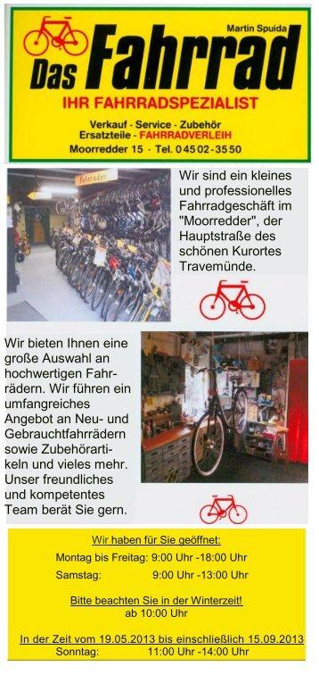 Das Fahrrad - Travemünde