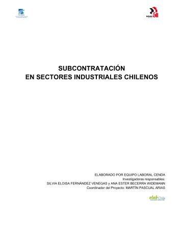 subcontratación en sectores industriales chilenos - Industriall