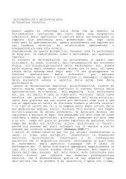 multimedialità e performing arts di Valentina Valentini Questo ...