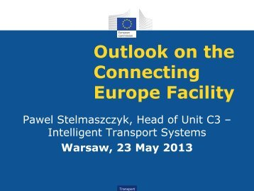 CEF Infrastructure Forum in Warsaw
