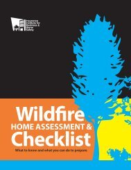 Wildfire Home Assessment and Checklist - Institute for Business ...