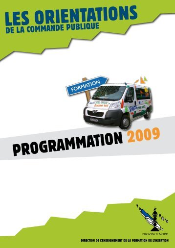 Programme d'insertion - Province Nord