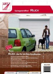 Garagentor Rudi mit Rundkasten