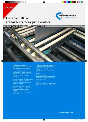 Ultrafeed 500 – vtahovací řemeny pro skládací a lepící stroje v ...