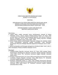Perubahan Atas Peraturan Menteri Pekerjaan Umum Nomor 51/PRT ...