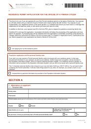 residence permit application for the spouse of a finnish citizen