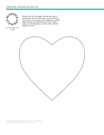 Template: Bejeweled Heart-Shaped Box Base p.37 - Martha Stewart
