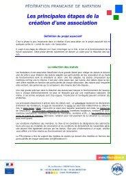 Les principales étapes de la création d'une association - Fédération ...