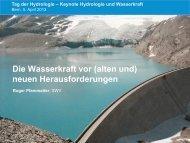 Keynote Wasserkraftnutzung - CHy