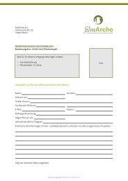 BEWERBUNGSBOGEN DREHBUCH - filmArche