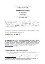 Aufforderung zur Einreichung von Wahlvorschlägen - Wahlen - Bayern
