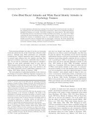 Color-Blind Racial Attitudes and White Racial Identity Attitudes in ...