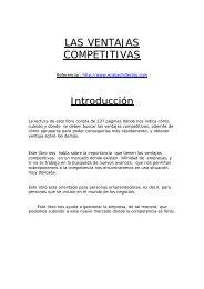 LAS VENTAJAS COMPETITIVAS Introducción - Ecobachillerato