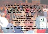 MOINHO D'ÁGUA – EDUCAÇÃO AMBIENTAL E ... - SIGAM