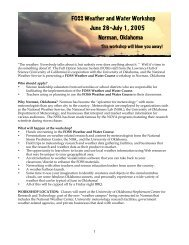 FOSS Weather and Water Workshop June 26-July 1, 2005 Norman ...