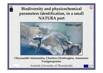 Biodiversity and physicochemical parameters identification, in a ...