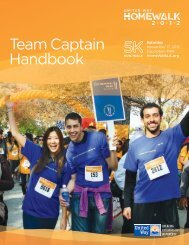 Team Captain Handbook - United Way of Greater Los Angeles