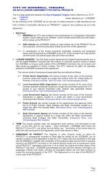 GIS Data License Agreement for Digital Products - the City of ...