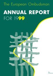 ANNUAL REPORT FOR 1999 - EOI
