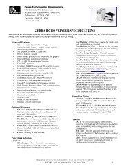 zebra mobile ql plus series printer specifications - Koncept-L