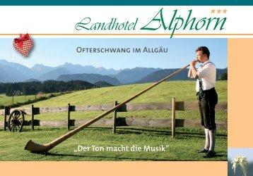 Der Ton macht die Musik - Landhotel Alphorn