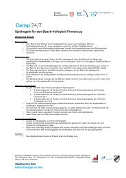 Regeln für den Beach-Volleyball Firmencup 2013 - Camp 24/7