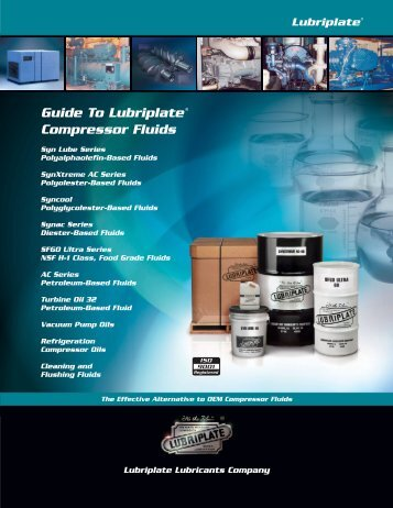 Guide To Lubriplate Compressor Fluids