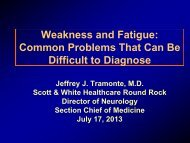 Weakness and Fatigue - Healthcare Professionals