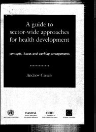 A guide to sector-wide approaches for health development concepts ...